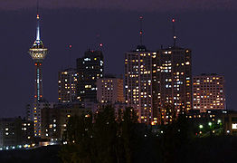 Towers_in_Tehran_City_at_night